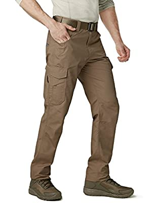 CQR Men's Work Rip-Stop Tactical Utility Operator Pants EDC TWP302 / TWP301 from Tesla Gears
