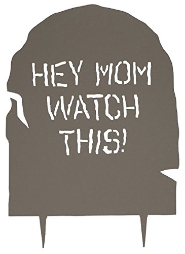 Acurio HW-1TS-HMWT Tombstone with Hey Mom Watch This! Epitaph, 33 by 24-Inch -