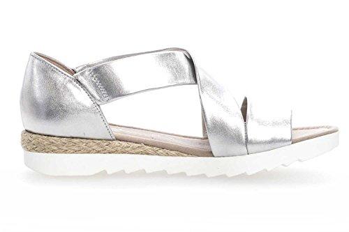 62 Gabor 711 Jute Donna silber Shoes Sandali PBqf0R