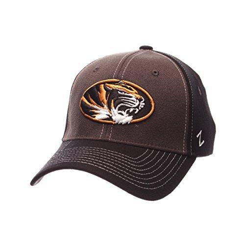 (NCAA Missouri Tigers Men's Powerhouse Z-Fit Cap, Medium/Large, Charcoal/Black)