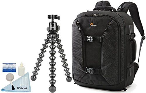 "Lowepro Pro Runner BP 450 AW II Photo / Up to a 15"" Laptop / Tablet / iPad Backpack w/ Joby GorillaPod Focus Flexible Tripod with Ballhead Kit by Lowepro"