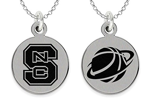 (College Jewelry North Carolina State Wolfpack Basketball Charm Necklace)