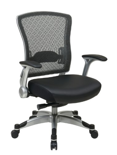 space-seating-professional-r2-spacegrid-back-chair-with-padded-memory-foam-eco-leather-seat-platinum