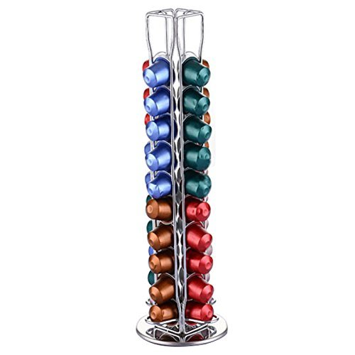 NEW Revolving Rotating Capsule Coffee Pod for Nespresso Holder Tower Stand Rack (Krueger Coffee K Cups)
