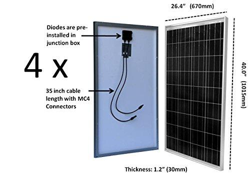 WindyNation-400-Watt-12V-or-24V-Solar-Panel-Kit-wAdjustable-Solar-Mount-Rack-and-LCD-Charge-Controller-RV-Cabin-Off-Grid-Battery