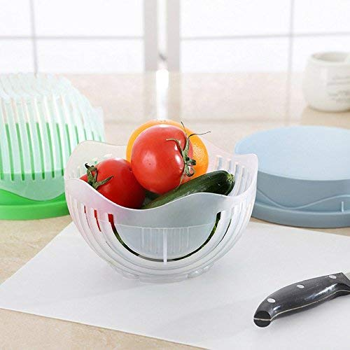 Meal Prep Approved and Diet Friendly Lunch Assistant Fast /& Convenient Fresh N Easy 60 Second Salad Bowl Cutter Healthy