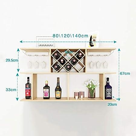 FPigSHS Armarios para Vino Botelleros Vinoteca de Pared Vinoteca de Pared Marco Colgante de Pared Soporte de exposición Vinoteca Vinoteca Varilla de Almacenamiento Estantería Varias Botellas