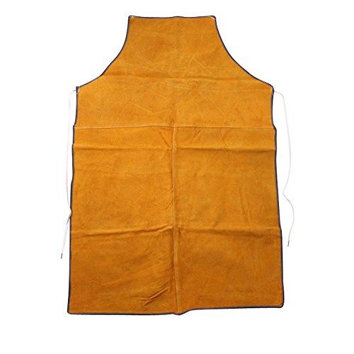 Welding Apron - Heat Resistant Flame Resistant Work Apron Flame Retardant Cowhide leather Tool Apron Adjustable Wasit Strape HSW-077-US (Retardant Apron)
