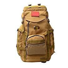 Pengfei 75 L Backpack Camping & Hiking Outdoor Multifunctional Brown / Camouflage Oxford Other