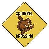 CROSSWALKS Squirrel Crossing 12' X 12' Aluminum Sign