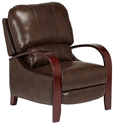 Chestnut Leather Recliner (Cooper Norse Chestnut Bonded Leather 3-Way Recliner)