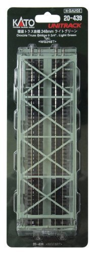 Kato 20-439 Double Track Truss Bridge Light Green by Kato - Kato Bridges Truss
