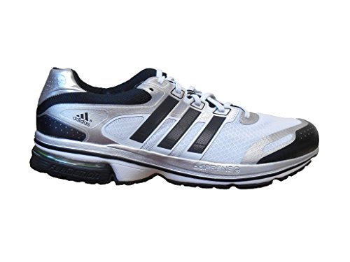 adidas Men's Super Nova Glide 5 Running Shoes (5, Running White/Black/Metallic Silver - Adidas Supernova Shoes Glide