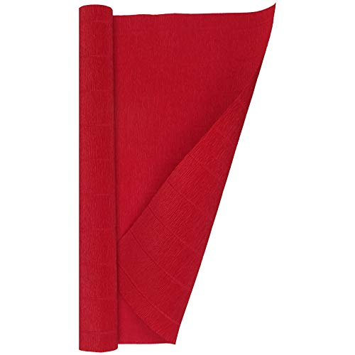 Giants Italian - Crepe Paper Roll, Heavy Italian 180 g, 13.3 sqft, Scarlet Red