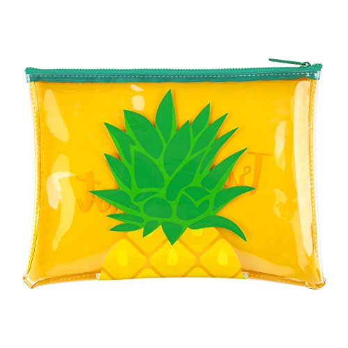 Sunnylife See Thru Beach Zipper Pouch Waterproof and Stylish Translucent Soft Plastic Handbag - Pineapple Yellow by SunnyLIFE (Image #1)