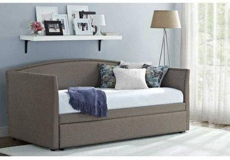 Better Homes and Gardens Daybed with Trundle (Fabric, Grey)
