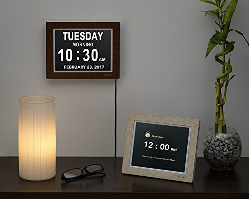 [Newest Version] Day Clock - Extra Large Impaired Vision Digital Clock with Battery Backup & 5 Alarm...