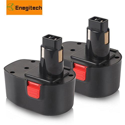 Enegitech 2 Pack 14.4v 3000mAh XRP Replace Battery Pack for Dewalt DC9091 DW9094 DW9091 DE9038 DE9091 DE9092 DE9094 DE9502