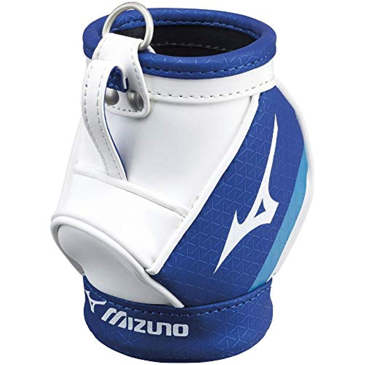 [해외] MIZUNO(미즈노) 골프 펜 케이스 투어 캐디백 타입 맨즈 8×8×13㎝ 화이트×네이비 5LJP202100