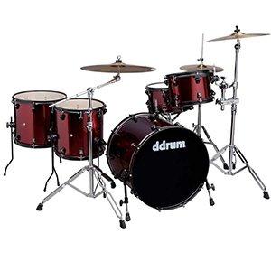 (Ddrums Journeyman Player 22 Red Sparkle 5-Piece Drum Kit w/ Hardware)
