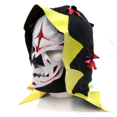 La Parka Costume (LA PARKA Adult Lucha Libre Wrestling Mask (pro-fit) Costume Wear (Black & Yellow))