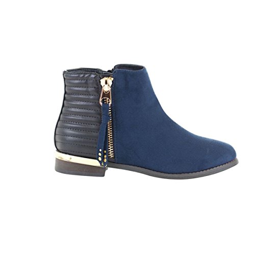 Gc Gc Zarra Womens Navy Bootie Gold Ankle Detailing Shoes Shoes 5dxwnqIFgd