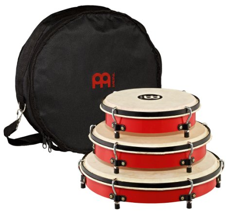 Meinl Percussion PL-SET Traditional Frame Drum Set with Bag: 8, 10, and 12-Inch, Red