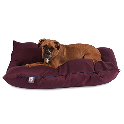35x46 Burgundy Super Value Pet Dog Bed By Majestic Pet Products Large