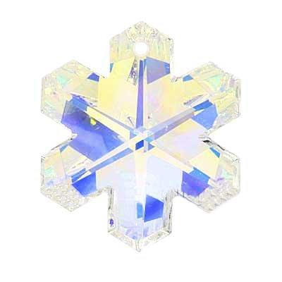 Swarovski Crystal #6704 Snowflake Pendant Crystal AB 20mm (Ab Snowflake Pendant)