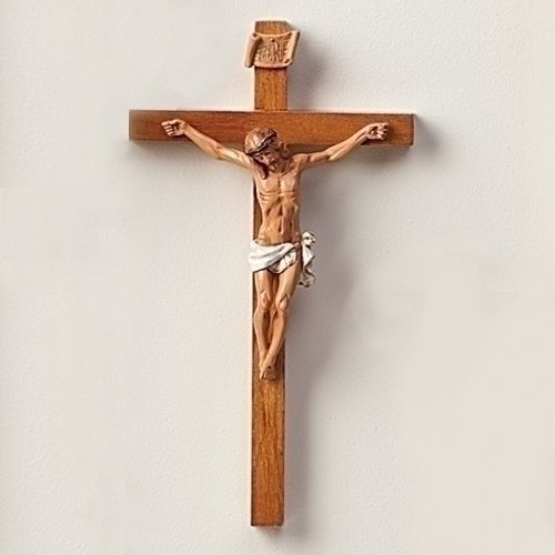 Crucifixes Fontanini Crucifix Features a Hand Painted Body of Christ on a Wood Cross, (Christ Wood Cross)