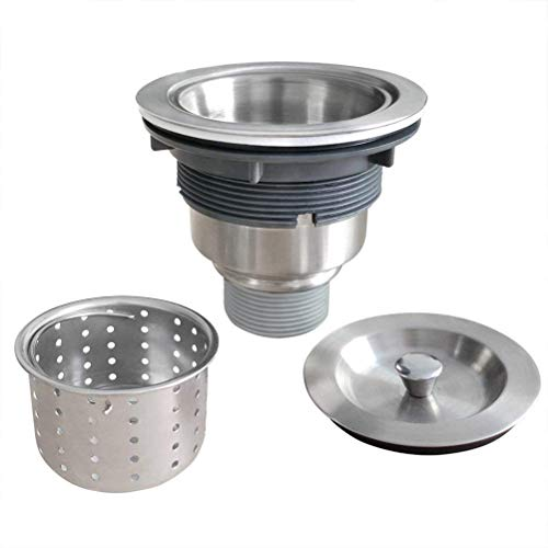 Standard Wastebaskets (Sink Layer lift basket 110mm Stainless Steel Basin accessories Fixtures Kitchen Strainer Sewer Assembly with Removable Deep Waste Basket)