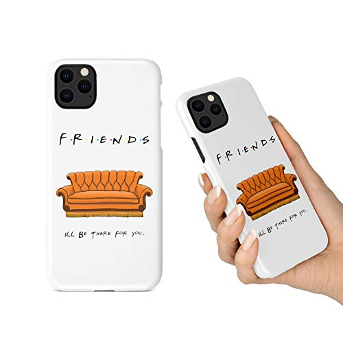 BrilliantCustoms New iPhone 11, 11 Pro, 11 Pro Max Phone Case Friends TV Show Orange Couch (iPhone 11 Pro)