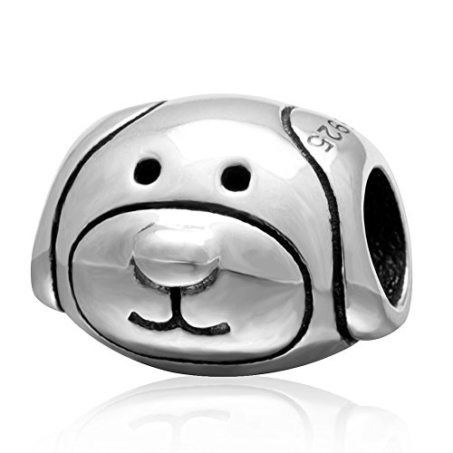 Beads Dog Silver - Fits DIY Charms Bracelet 925 Sterling Silver Bead Animals Dog Bead Charms European DIY Jewelry Findings
