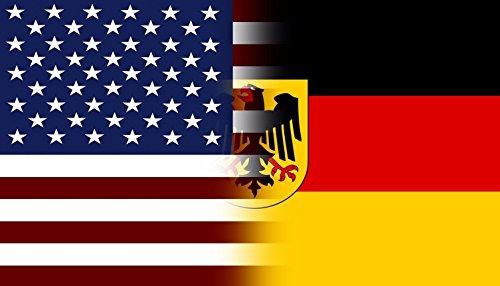 American Germany Flag Decal Eagle Crest German Deutschland Vinyl Sticker - Germany Flag Decal
