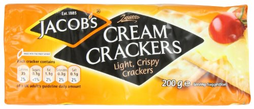 Jacob's  Cream Crackers. 200g  Pack (Pack of 6)