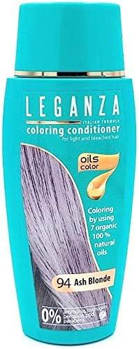 Pack Ahorro de 2 x Tintes Bálsamo para cabello sin ammoniaque color rubio ceniza 94, 7 aceites naturales