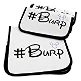 Quality World | 3-Pack Soft Baby Burp Cloths | Large 21'x 10' | 100% Organic Cotton | Water Resistant With 6 Absorbent Thick Cotton Layers | A Premium & Unique Design!