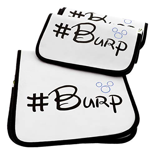 Quality World | 3-Pack Soft Baby Burp Cloths | Large 21x 10 | 100% Organic Cotton | Water Resistant With 6 Absorbent Thick Cotton Layers | A Premium & Unique Design!