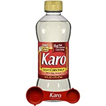 Karo - Light Corn Syrup with Real Vanilla, 16 Ounce Bottle - Includes Karo Measuring Spoon