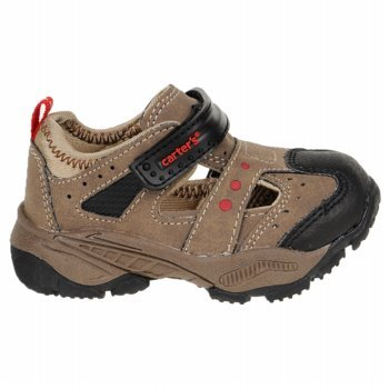 Carters HYPER-10 Walking Trail Shoes Closed-Toe Sandals Toddlers Size 10 Brown//Tan