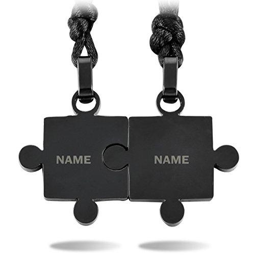 black stainless steel pendant - 6