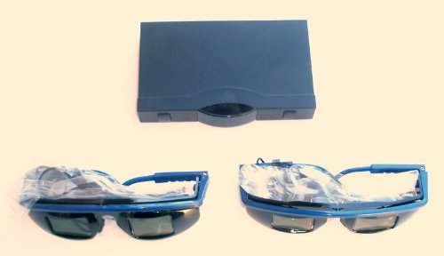 3D TV Kit 100 Pack for Compatible DLP Projectors or CRT TV's (60hz field sequential 3D DVD Required)