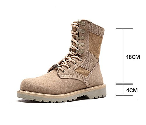 CLAKION 13-18 cm Women Martin Leather Boots Outdoor Military Desert Casual Working Army Shoes by CLAKION
