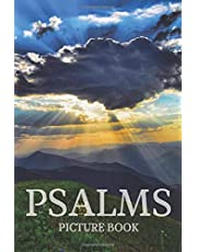 Psalms Picture Book: Bible Verse Picture Book with Soothing Scenery Photos Behind Big Text - Dementia Activities for Seniors (Gift From Caregivers)