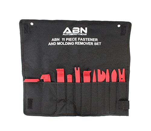 ABN Premium Auto Trim Removal Tool Kit - 11 Piece Pry Bar Set, Fastener Remover, No Scratch Trim Removal Set ()