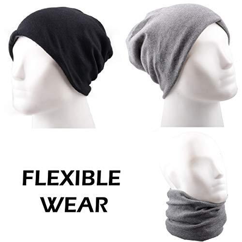 al gorro máscara Gris libre Magic Triwonder de cuello bufanda multifuncional aire más trapo Raya cálido hacer invierno de – Headwear qwPtPzS7