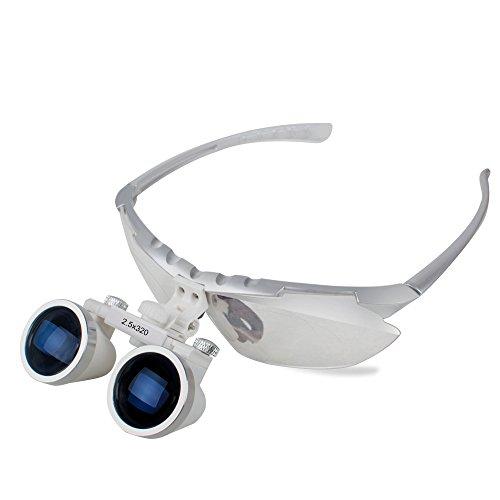 Denshine® Brand New Dentist Dental Surgical Medical Binocular Loupes 2.5X 320mm Optical Glass - Glasses Discount Optical