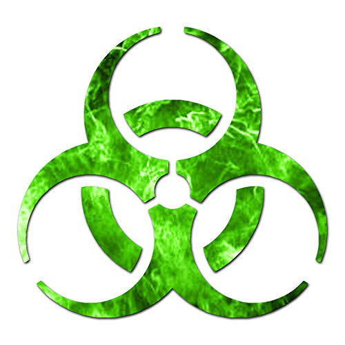 Bio Hazard Symbol - Vinyl Decal Sticker - 6.25