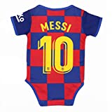 Babyjs Barcelona 10 Messi Bodysuit Soccer Fan Baby Suit for Romper Infant & Toddler 0-9Monthes