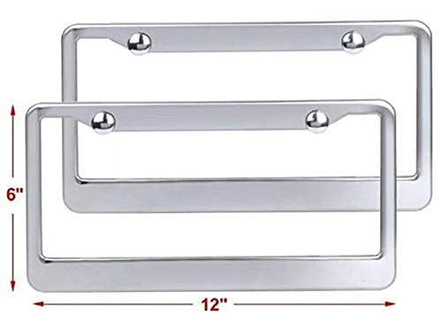 DETROIT MUSCLE AUTO CAR Metal License Plate Frame Tag Holder Two Holes